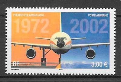 filatelia transporte aéreo Francia 2002