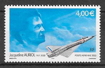 filatelia transporte aéreo Francia 2003