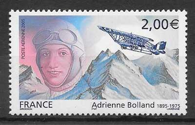 colección sellos transporte aéreo Francia 2005