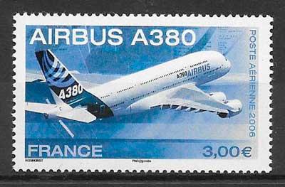 filatelia colección transporte aéreo Francia 2006