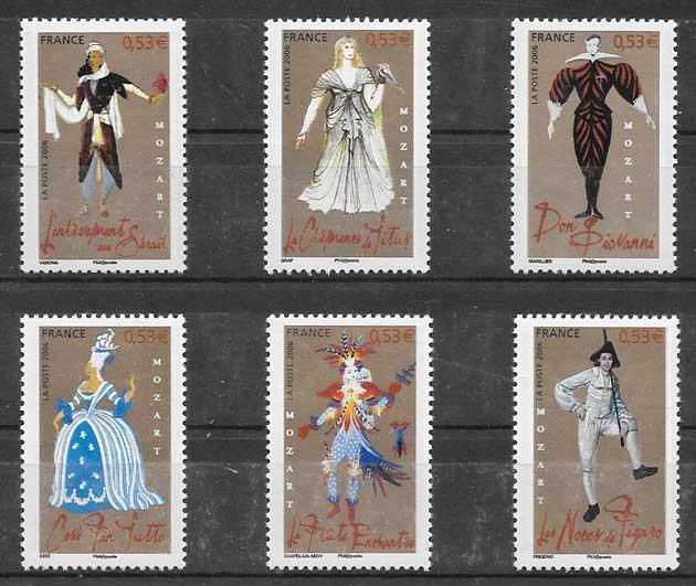 sellos Francia personalidades 2006