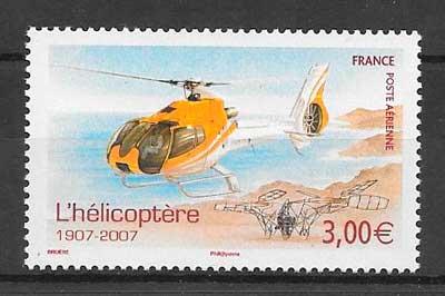 colección sellos transporte aéreo Francia 2007