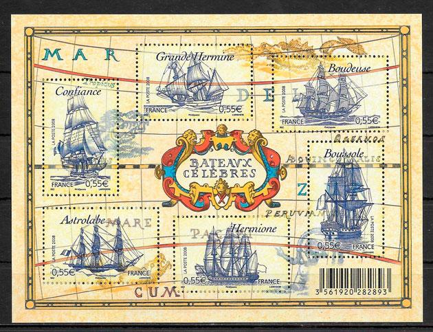colección sellos transporte Francia 2008