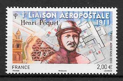 colección sellos transporte aéreo Francia 2011