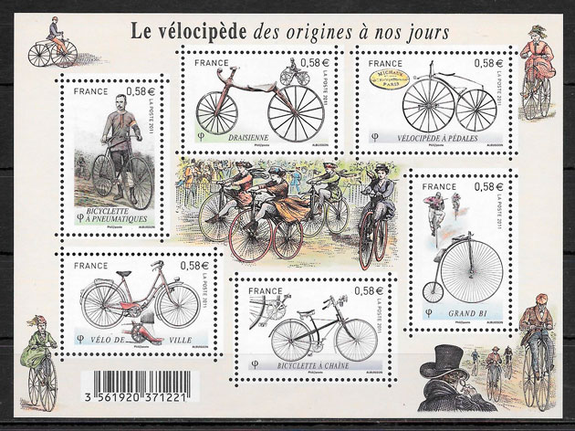 colección sellos transporte Francia 2011