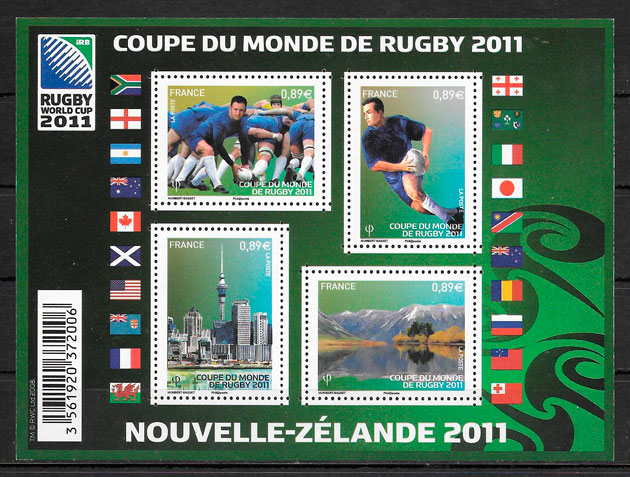 sellos deporte Francia 2011