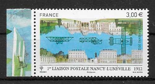 sellos transporte aéreo Francia 2012