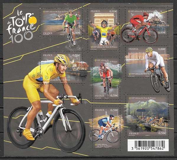 sellos deporte Francia 2013