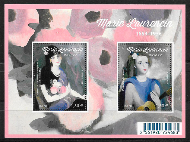 colección sellos arte Francia 2016