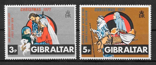 filatelia navidad Gibraltar 1971