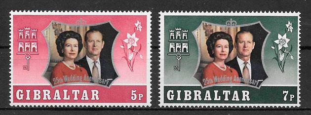 filatelia colección personalidades Gibraltar 1972