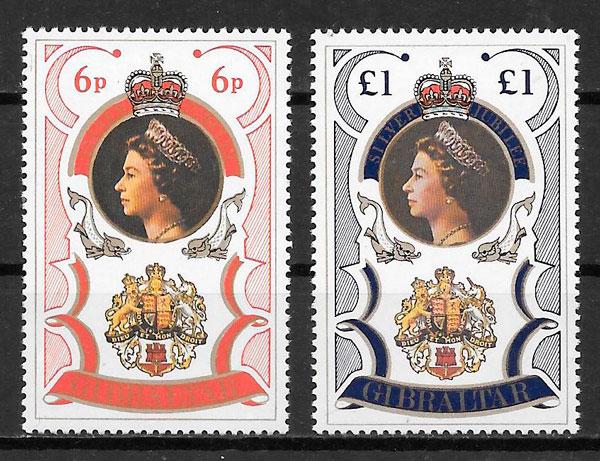 sellos personalidades Gibraltar 1977