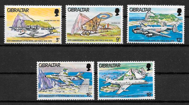 sellos transporte Gibraltar 1978