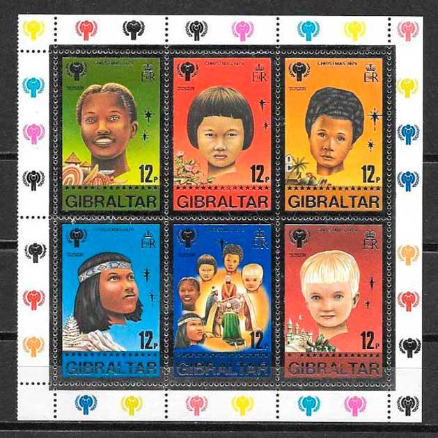 sellos navidad Gibraltar 1979