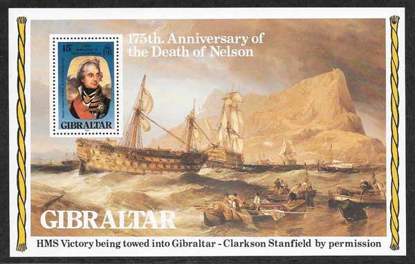 Filatelia transporte marítimo Gibraltar