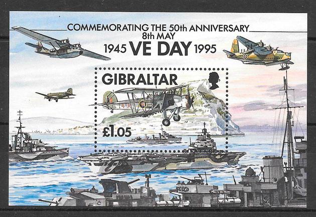 filatelia transporte Gibraltar 1995
