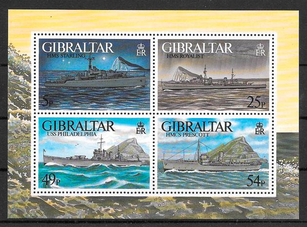 filatelia colección transporte Gibraltar 1996