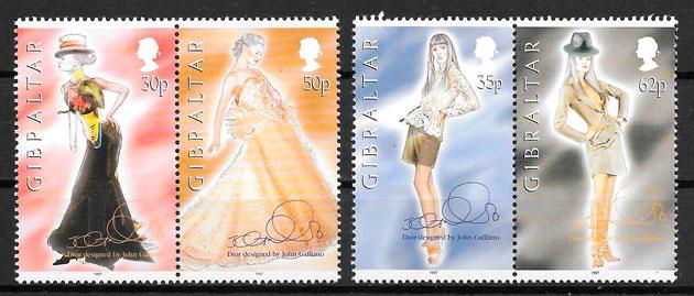 clección sellos arte Gibraltar 1997