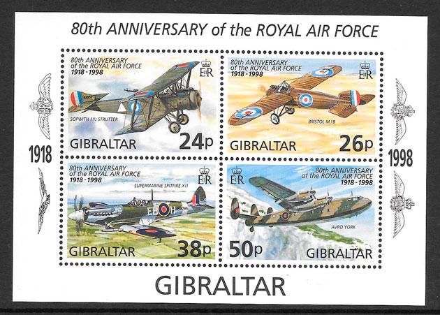 colección sellos transporte Gibraltar 1998