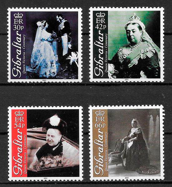 filatelia colección personalidades 2001 Gibraltar
