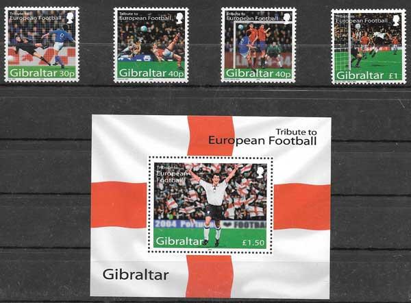 Filatelia deporte Gibraltar 2004