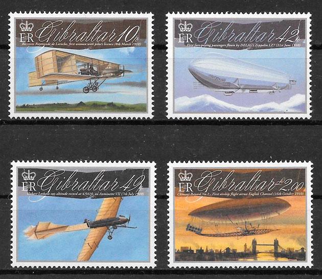 filatelia colección transporte Gibraltar 2010
