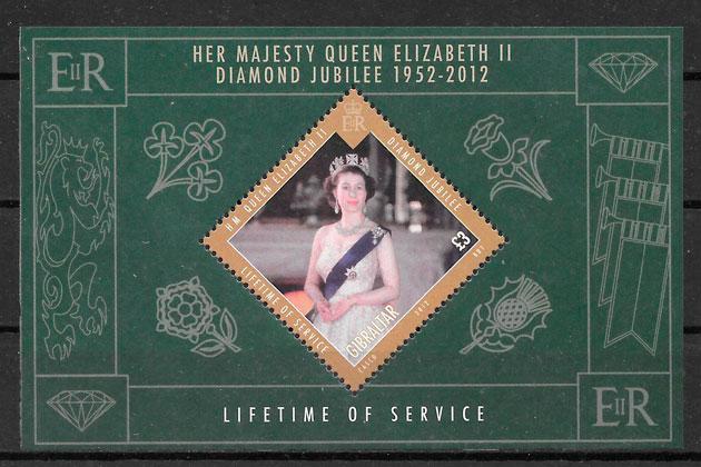 colección sellos personalidades Gibraltar 2012