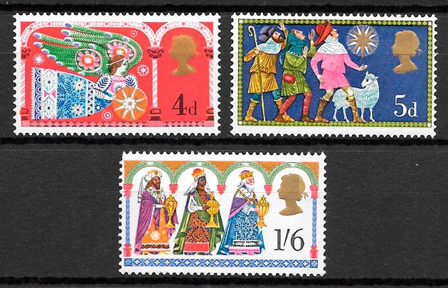 filastelia navidad Gran Bretaña 1969