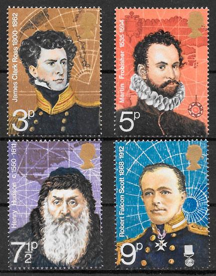 colección sellos personalidades Gran Bretaña 1971