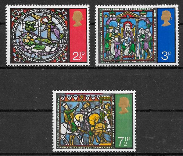 fiklatelia colección navidad Gran Bretaña 1972