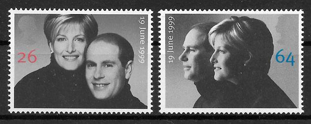 filatelia personalidad Gran Bretana 1999