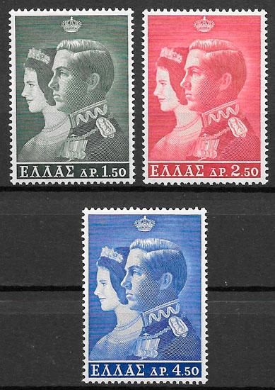 sellos personalidades Grecia 1964