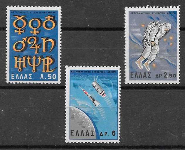 filatelia espacio Grecia 1965
