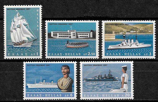 sellos transporte Grecia 1967