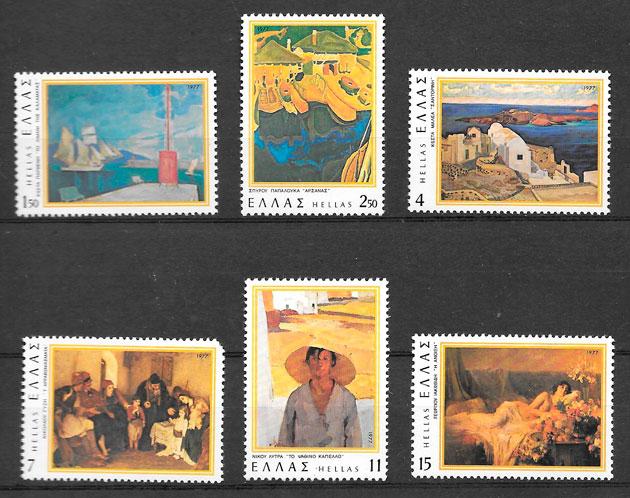 filatelia arte Grecia 1977
