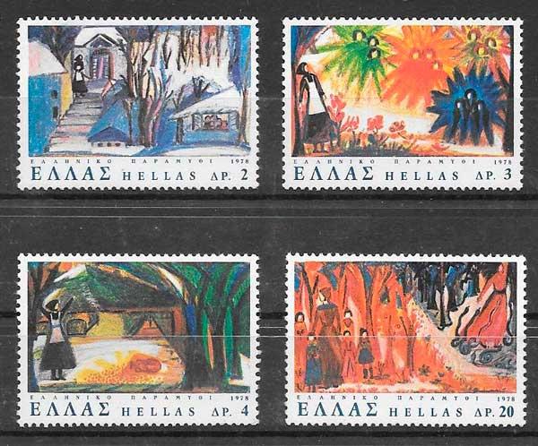 sellos cuentos Grecia 1978