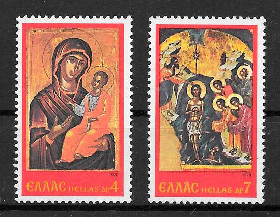 sellos navidad Grecia 1978