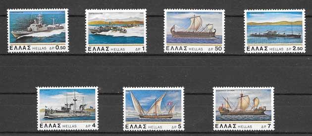 Sellos transporte marítimo Grecia 1978