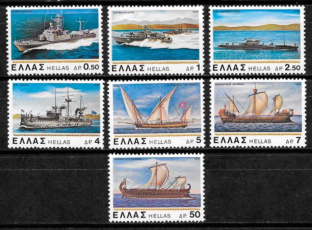 filatelia colección transporte Grecia 1978