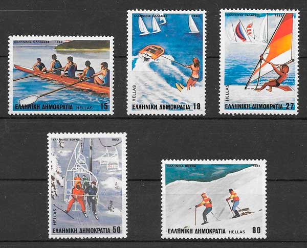 sellos deporte Grecia 1983