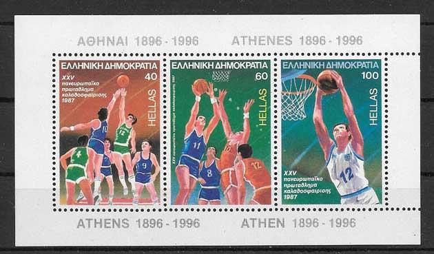 Sellos Baloncesto masculino Atenas 1987