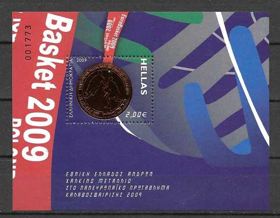 Sellos Filatelia Campeonato europeo de baloncesto