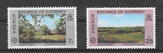 sellos tema europa 1977 - paisajes