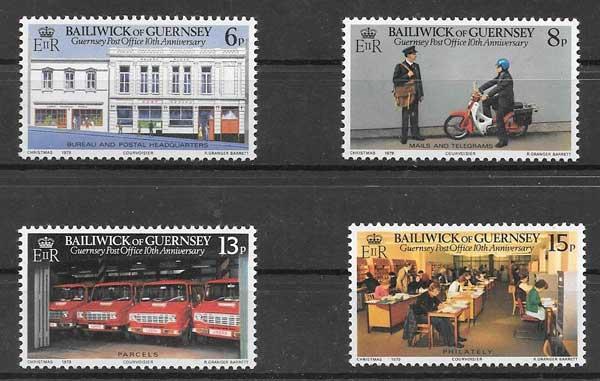 Colección sellos Servicio postal Guersey 1979
