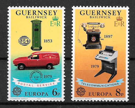selos Europa Guernsey 1979