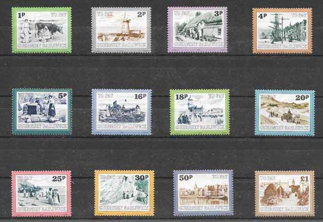Colección sellos Guersey-1982-01