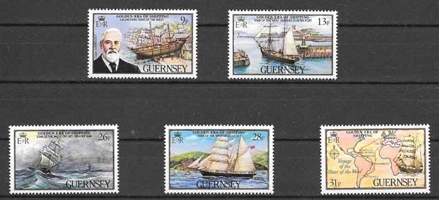 Colección sellos transporte marítimo - mercante 1983