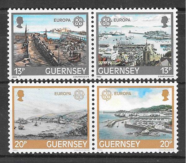 colección sellos Europa Guernsey 1983
