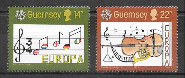 filatelia Europa Guernsey 1985