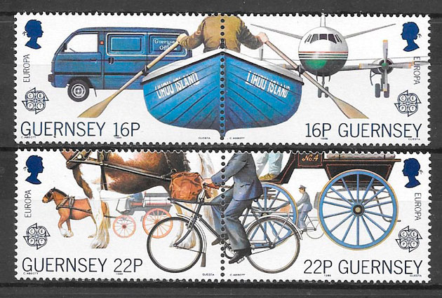 colección sellos Europa Guernsey 1988